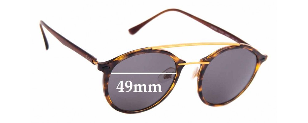 Sunglass Fix Sunglass Replacement Lenses for Ray Ban LightRay RB4266 - 49mm Wide