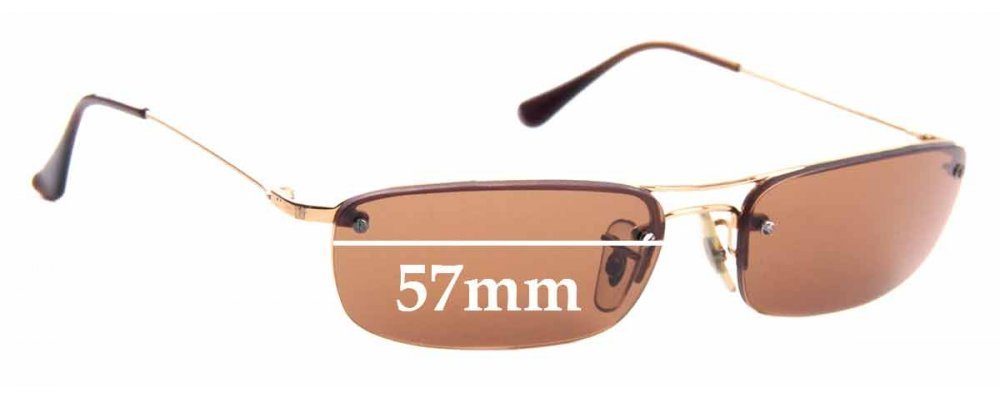 Sunglass Fix Sunglass Replacement Lenses for Ray Ban RB3174 - 57mm Wide