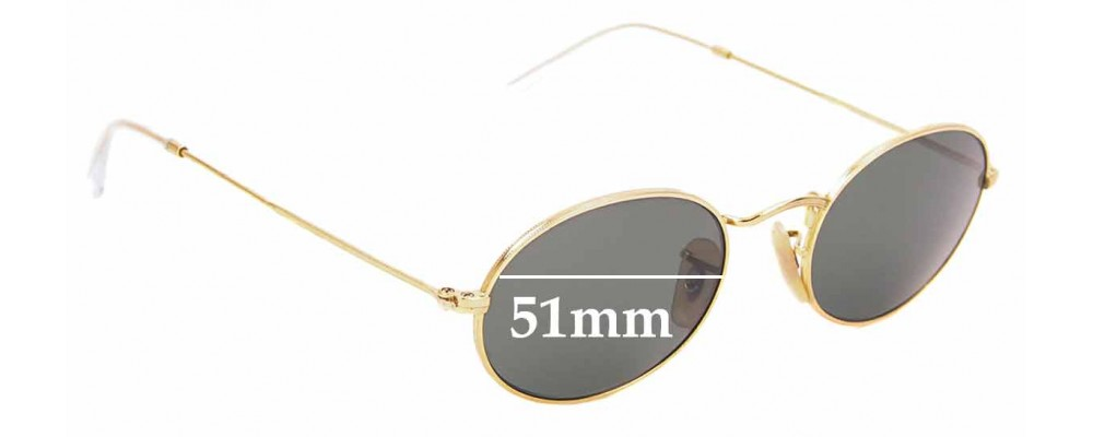 Sunglass Fix Sunglass Replacement Lenses for Ray Ban RB3547- 51mm Wide