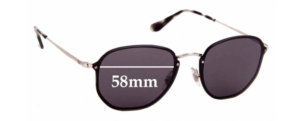Sunglass Fix Sunglass Replacement Lenses for Ray Ban RB3579-N - 58mm