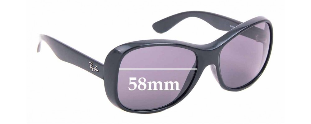 Sunglass Fix Sunglass Replacement Lenses for Ray Ban RB4139 - 58mm Wide