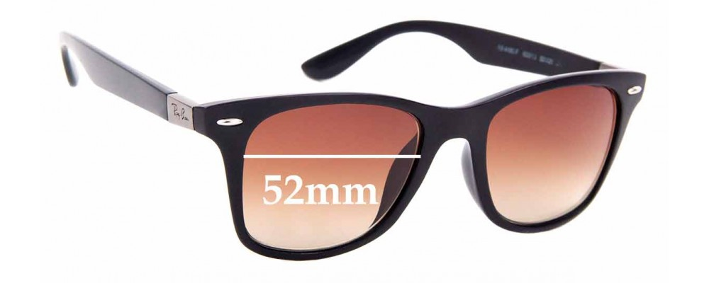 Sunglass Fix Sunglass Replacement Lenses for Ray Ban RB4195-F - 52mm Wide
