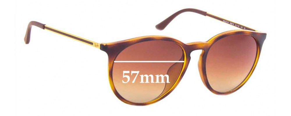 Sunglass Fix Sunglass Replacement Lenses for Ray Ban RB4274-F - 57mm Wide