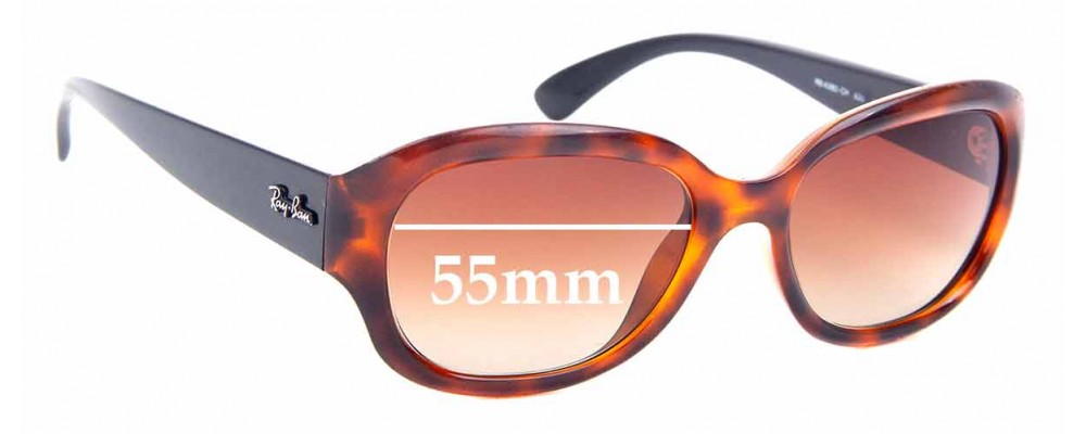 Sunglass Fix Sunglass Replacement Lenses for Ray Ban RB4282-CH - 55mm Wide