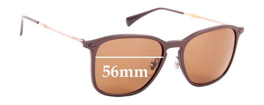 Sunglass Fix Sunglass Replacement Lenses for Ray Ban RB8353 - 56mm Wide
