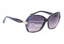 Sunglass Fix Sunglass Replacement Lenses for Roberto Cavalli Kochab 876S - 57mm Wide