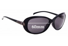 Sunglass Fix Sunglass Replacement Lenses for Spotters Ebony - 60mm Wide