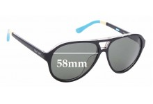 Sunglass Fix Sunglass Replacement Lenses for Toms Marco S008 - 58mm Wide