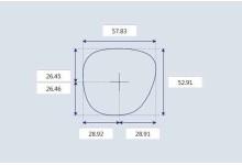 Sunglass Fix Sunglass Replacement Lenses for Toms Marisol - 58mm Wide