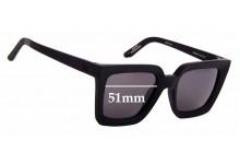 Sunglass Fix Sunglass Replacement Lenses for Toms Traveler by Toms Zuma - 51mm Wide