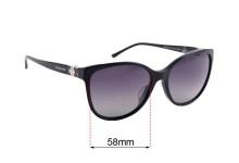 Sunglass Fix Sunglass Replacement Lenses for Bvlgari 8132-B-F - 58mm Wide