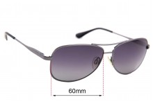 Sunglass Fix Sunglass Replacement Lenses for Cancer Council Australia Coober Pedy - 60mm Wide