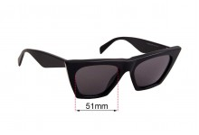 Sunglass Fix Sunglass Replacement Lenses for Celine CL 41468/S - 51mm Wide