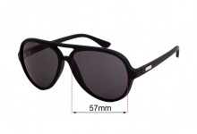 Sunglass Fix Sunglass Replacement Lenses for Childe Delete - 57mm Wide