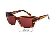 Sunglass Fix Sunglass Replacement Lenses for Childe Mod - 55mm Wide