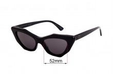 Sunglass Fix Sunglass Replacement Lenses for Childe Mookhi - 52mm Wide