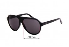 Sunglass Fix Sunglass Replacement Lenses for Childe Reed - 60mm Wide