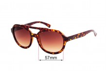 Sunglass Fix Sunglass Replacement Lenses for Childe Secret - 57mm Wide