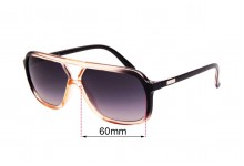 Sunglass Fix Sunglass Replacement Lenses for Childe Treble - 60mm Wide