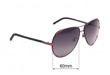 Sunglass Fix Sunglass Replacement Lenses for Chloe CE 100S - 60mm Wide