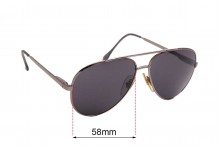 Sunglass Fix Sunglass Replacement Lenses for Cottet Vintage Aviator 743  - 58mm Wide