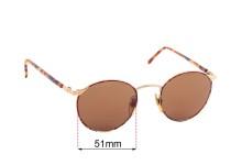 Sunglass Fix Sunglass Replacement Lenses for Dakota Smith 5002 Steinbeck - 51mm Wide