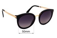 Sunglass Fix Sunglass Replacement Lenses for Dolce & Gabbana DG4268 - 50mm Wide