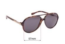 Sunglass Fix Sunglass Replacement Lenses for Dolce & Gabbana DG8078 - 57mm Wide