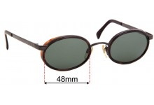 Sunglass Fix Sunglass Replacement Lenses for Emporio Armani 085-S - 48mm Wide