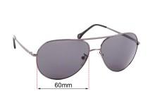 Sunglass Fix Sunglass Replacement Lenses for Ermenegildo Zegna SZ 3240 - 60mm Wide
