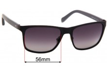 Sunglass Fix Sunglass Replacement Lenses for Fossil FOS 2039/S - 56mm Wide