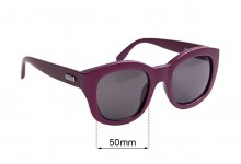 Sunglass Fix Sunglass Replacement Lenses for Le Specs Runaways - 50mm Wide