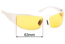 Sunglass Fix Sunglass Replacement Lenses for Outlaw Eyewear Fugitive - 64mm Wide
