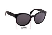 Sunglass Fix Sunglass Replacement Lenses for Prada Prada SPR18R - 56mm Wide
