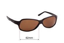 Sunglass Fix Sunglass Replacement Lenses for Prada SPR26A - 62mm Wide