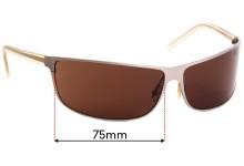 Sunglass Fix Sunglass Replacement Lenses for Prada SPR53C - 75mm Wide