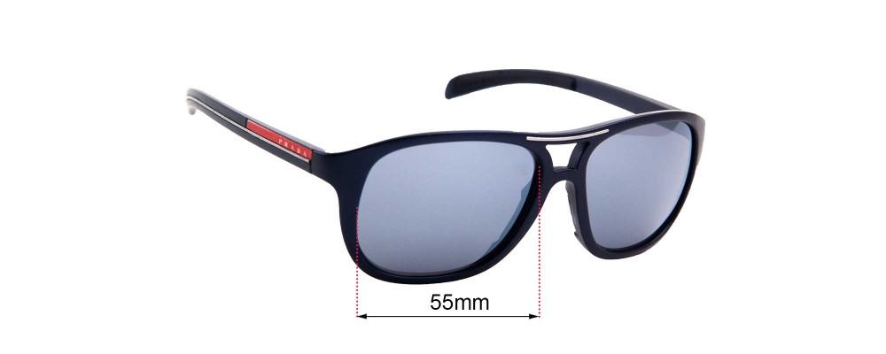 Sunglass Fix Sunglass Replacement Lenses for  Prada SPS06I - 55mm Wide