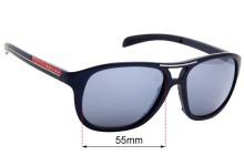 Sunglass Fix Sunglass Replacement Lenses for  Prada SPS061 - 55mm Wide