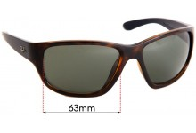 Sunglass Fix Sunglass Replacement Lenses for Ray Ban RB4300 - 63mm Wide