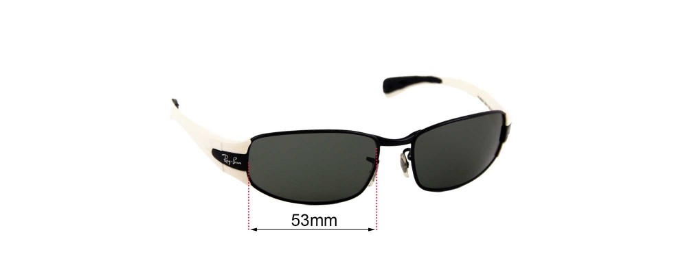 Sunglass Fix Sunglass Replacement Lenses for Ray Ban RJ9522S - 53mm Wide
