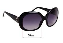 Sunglass Fix Sunglass Replacement Lenses for Salvatore Ferragamo 2201 - 57mm Wide
