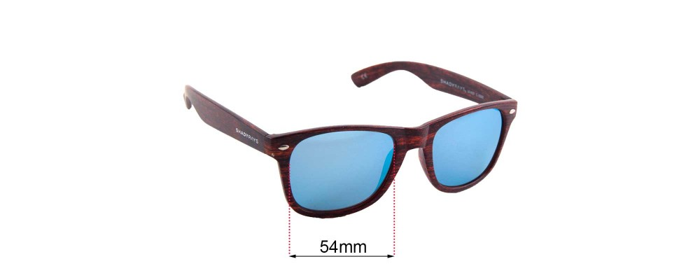 Sunglass Fix Sunglass Replacement Lenses for Shady Rays C-5080 - 54mm Wide