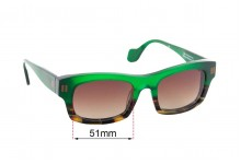Sunglass Fix Sunglass Replacement Lenses for Theo Soixante Six - 51mm Wide