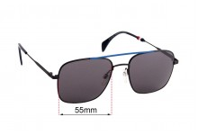 Sunglass Fix Sunglass Replacement Lenses for Tommy Hilfiger TH Sun Rx 40 - 55mm Wide