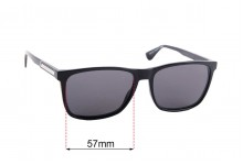 Sunglass Fix Sunglass Replacement Lenses for Tommy Hilfiger TH Sun RX 43 - 57mm Wide