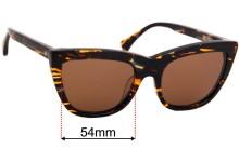 Sunglass Fix Sunglass Replacement Lenses for AM Eyewear Asia - 54mm Wide