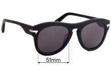 Sunglass Fix Sunglass Replacement Lenses for G-Star Raw Fat Garber - 51mm Wide
