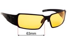 Sunglass Fix Sunglass Replacement Lenses for Gatorz Boxster - 63mm Wide