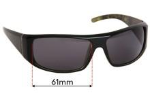 Sunglass Fix Sunglass Replacement Lenses for PolarOne Proxima PX-3007 - 61mm Wide