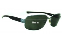 Sunglass Fix Sunglass Replacement Lenses for Ray Ban RB3331 - 58mm Wide